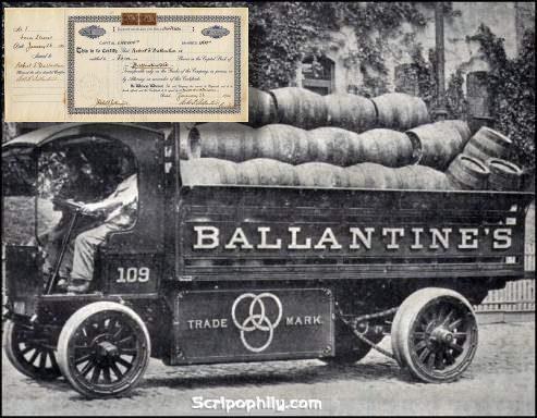 lịch sử năm 1900 của rượu balentines