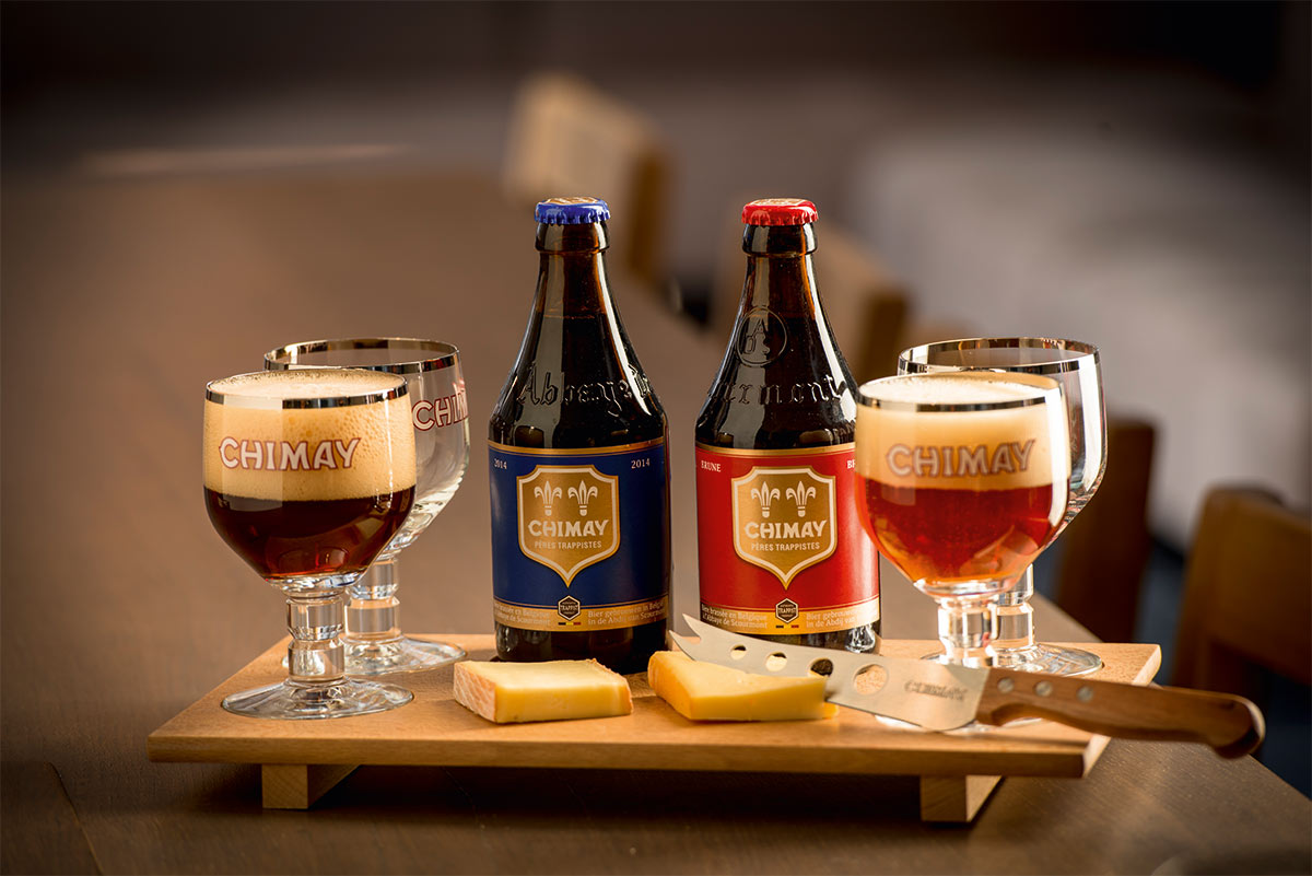 chimay beer and cheese