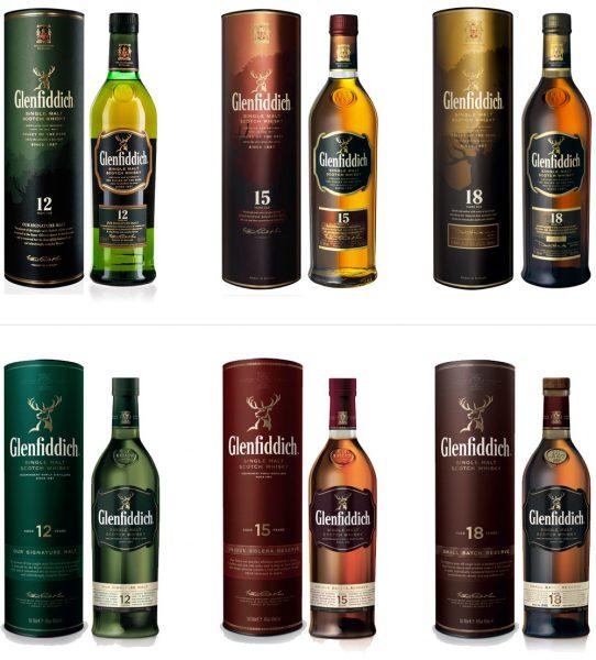 glenfiddich bottles-chai-mới