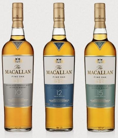 macallan 10 12  15 fine oak